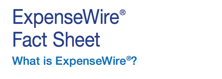 ExpenseWire Fact Sheet