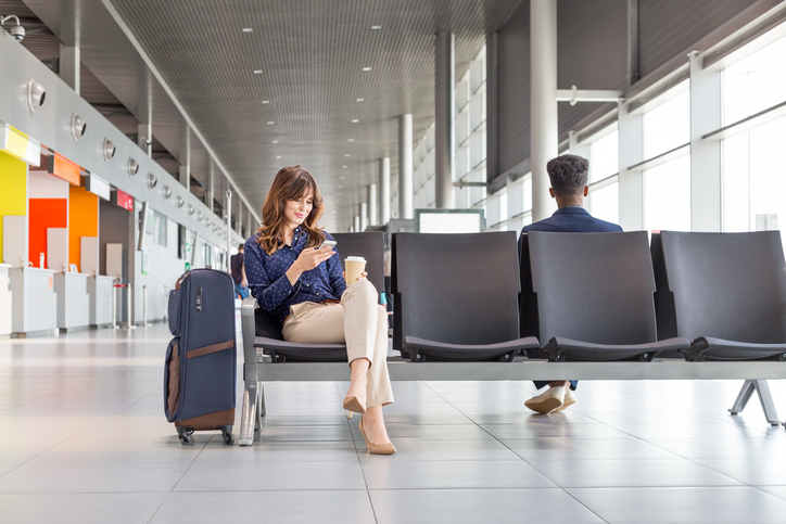 Women sitting in airport